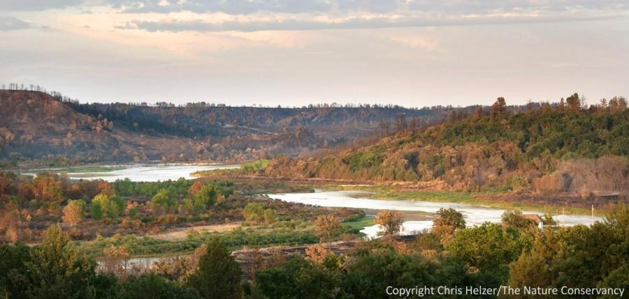 The Niobrara River flowing through the Niobrara Valley Preserve.