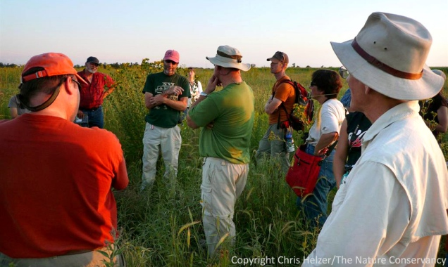 A field discussion at the 2009 Grassland Restoration Network in Nebraska.