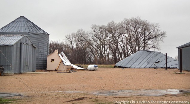 Storm damage at our shop this morning.