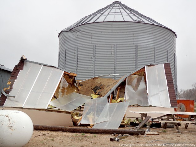 Our greenhouse was a total loss.