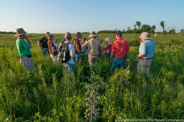 Attendees of the Grassland Restoration Network's annual workshop at Tucker Prairie, east of Columbia, Missouri.
