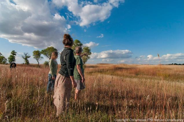 Anne and Eliza get a tour of a South Dakota prairie near Wagner, SD.