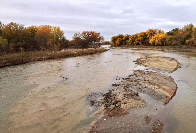 South channel of the Platte River, facing west.