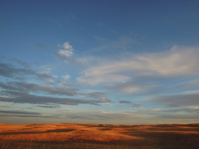The Nebraska sandhills at sunset.