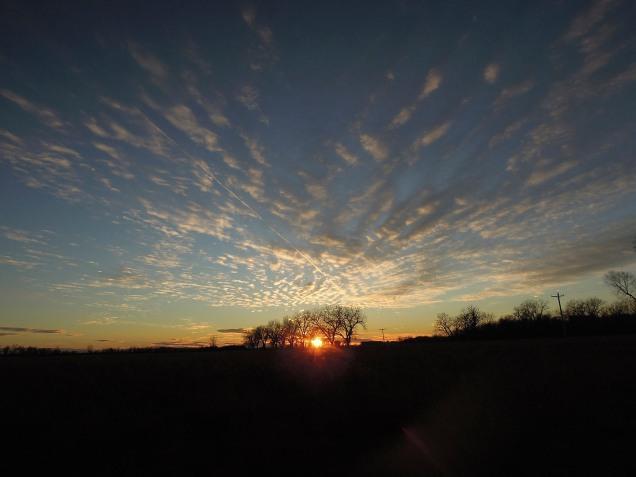 Autumn sunset over the Platte River Prairies.