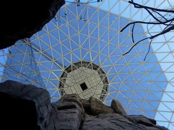 The domed roof of the desert display at the Henry Doorly Zoo in Omaha.