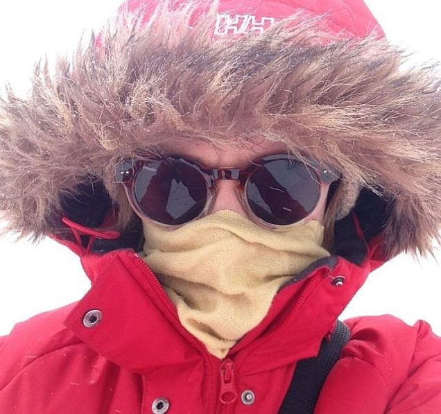 If you're curious, this is the face behind the posts… winter edition.
