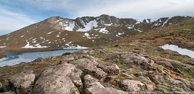 Mount Evans and Summit Lake.