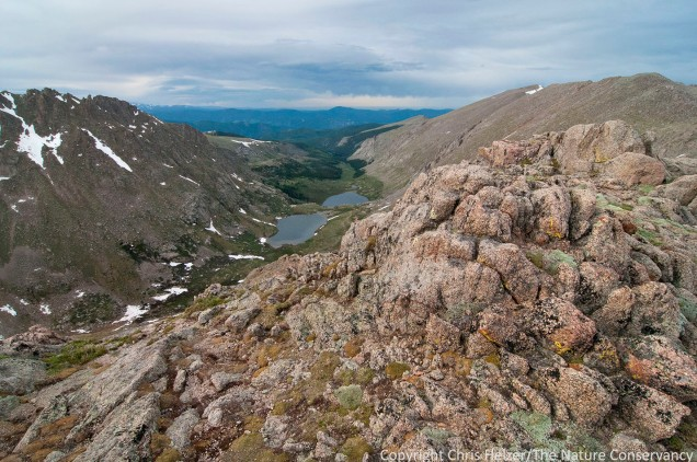 Summit lake near Mount Evans.