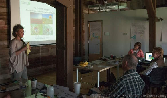 Eliza gave a presentation on her Fellowship year and accomplishments at the May Board Meeting of The Nature Conservancy's Nebraska Chapter.