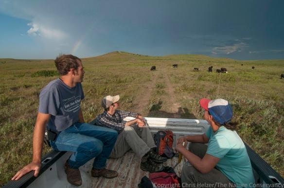 Nelson and the Hubbard Fellows enjoy a rainbow over the prairie.