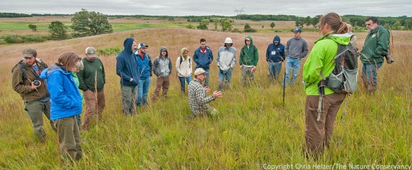 Bill again, talking to a tour group - with the Nachusa Grasslands in the background.