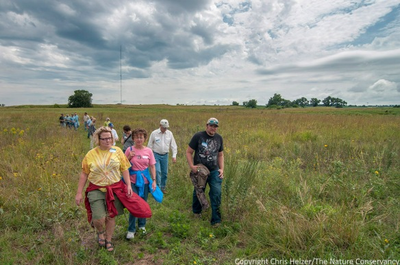 Hikers enjoying the prairie during one of last year's Field Days.
