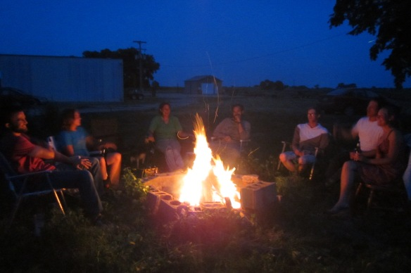 We celebrated the end of thistle season by burning the flowerheads in a bonfire.