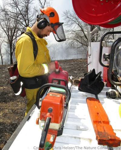 2014 Spring burn at TNC Rulo Bluffs Preserve. Nelson Winkel.