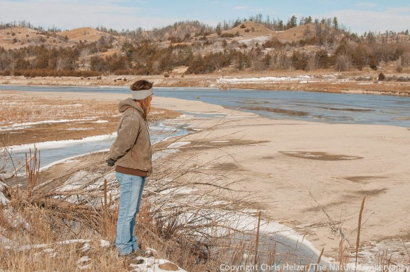Kim Helzer. Niobrara river in winter. The Nature Conservancy's Niobrara Valley Preserve, Nebraska.